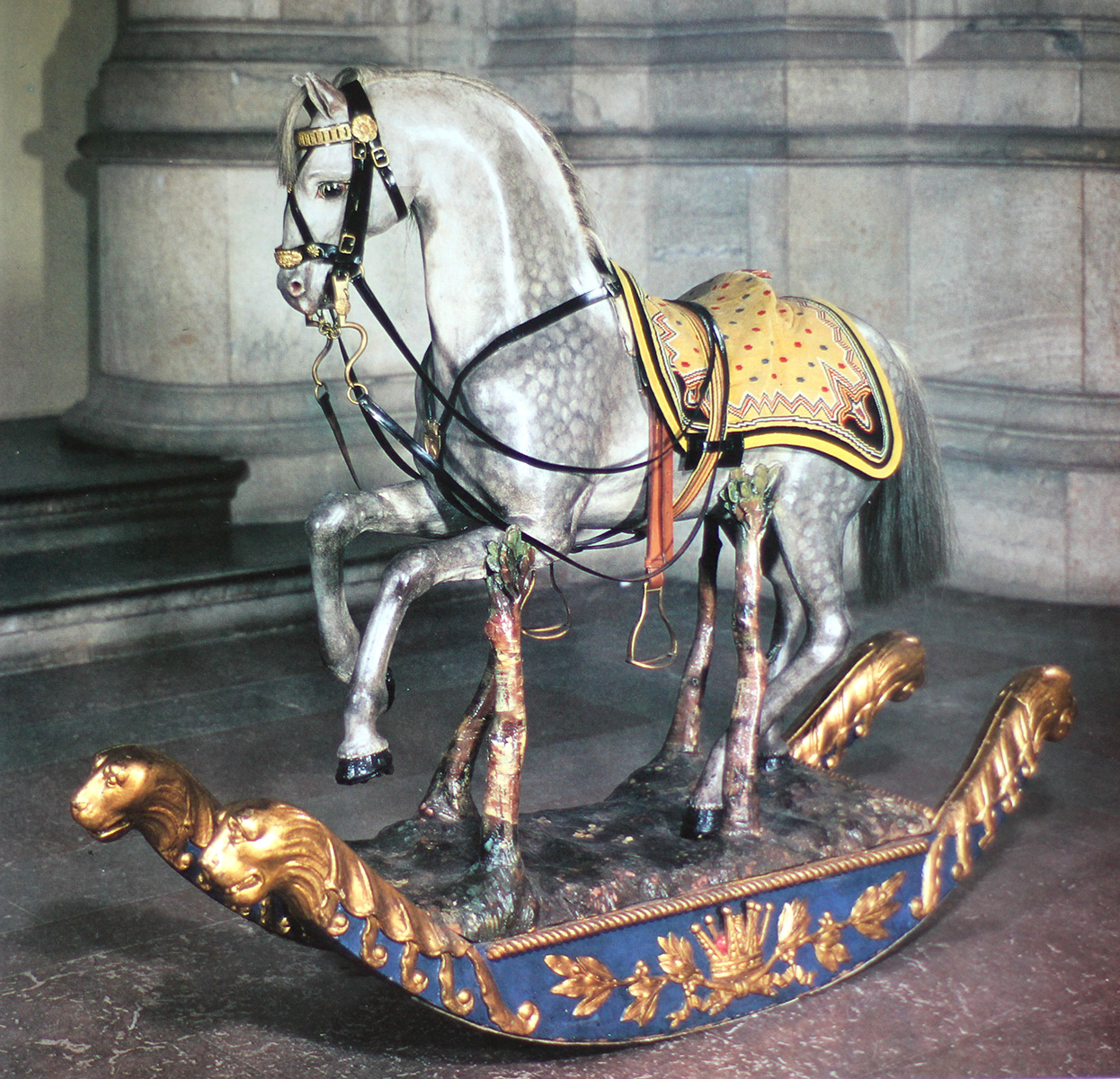 Лошадка Карла XV, короля Швеции, 1830 Rocking horse made in 1830 for the u young Swedish King Karl X